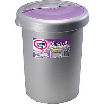 handy bag Cubo de basura Girafacil con abertura ahorra espacio con tapa rosa 30 l 30 l