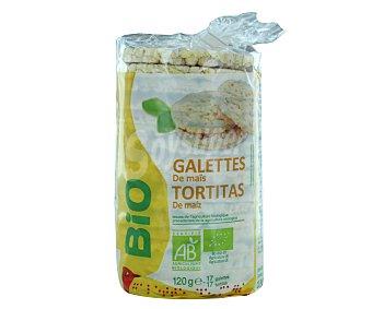 Auchan Tortitas de maíz ecológicas 120 gr