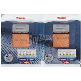 Eroski Salmón ahumado Pack 2x50 g
