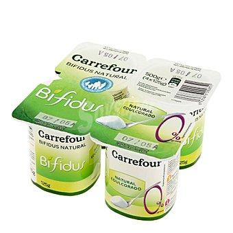 Carrefour Yogur Bífidus 0%natural edulcorado Pack de 4x125 g