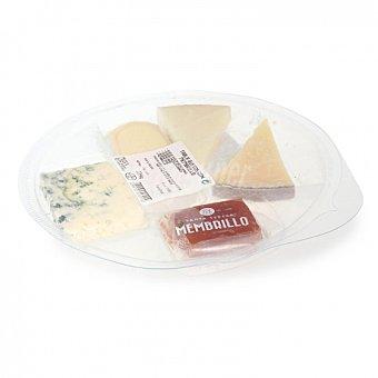 Juan Luna Tabla de quesos con membrillo: curado, oveja, semicurado, brie y azul, 267 G 267 g