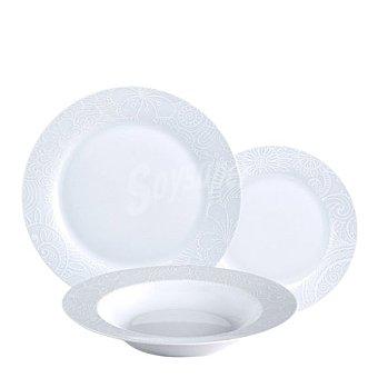 Vajilla 18 piezas porcelana eternal 1 ud