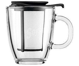 Bodum Mug tetera individual cuerpo transparente y filtro color negro, de capacidad, Yo Yo bodum 0,35 litros