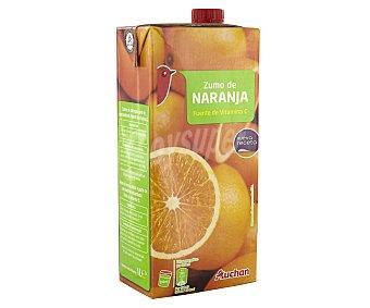 Auchan Zumo de naranja Brick de 1 litro