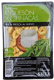 Hacendado Pasta fresca tortellini espinaca y requeson Paquete 250 g