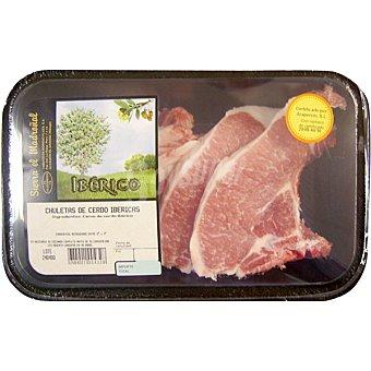 SIERRA EL MADROÑAL Chuletas de lomo de cerdo iberico peso aproximado bandeja 300 g Bandeja 300 g