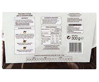Auchan Chocolate a la taza Tableta de 300g