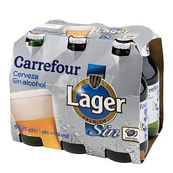 Carrefour Cerveza sin alcohol Pack 6x25 cl