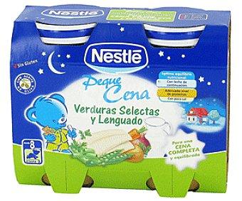 Nestlé Tarrina de Verdura y Lenguado Selectas 2 Unidades de 200 Gramos