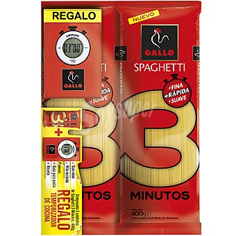 Gallo lote 2 espagueti 3 minutos + regalo de un temporizador... paquete 400 g