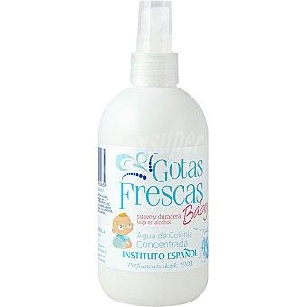 GOTAS FRESCAS Baby Agua de colonia concentrada suave y duradera baja en alcohol Spray 250 ml