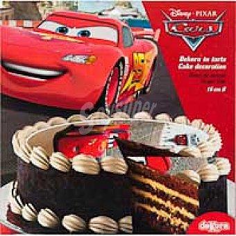 Disco de azúcar 16 cm Cars Sobre 25 g