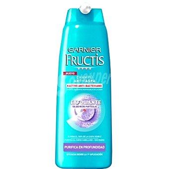 Fructis Garnier Champú anticaspa exfoliante anti-bacteriano purifica en profundidad Frasco 300 ml
