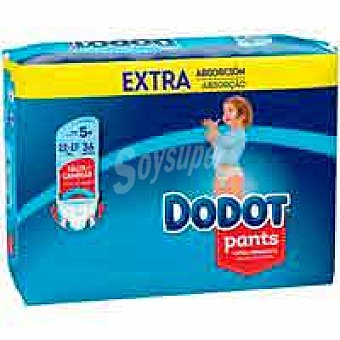 Dodot Pants 12-17 kg Talla 5 Extra paquete 36 unid