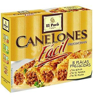 EL PAVO canelones precocidos 18 placas caja 125 g