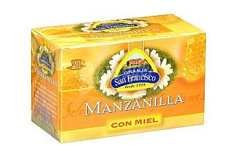 Granja San Francisco Manzanilla con miel  Bolsitas 20 unidades