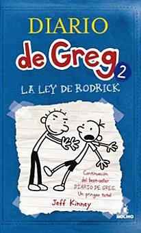 """J.Kinney Libro Diario de Greg 2: """"La ley de Rodrick"""" 1 ud"""