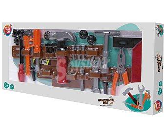 ONE TWO FUN ALCAMPO Cinturón de trabajo más herramientas de juguete, incluye 26 piezas alcampo