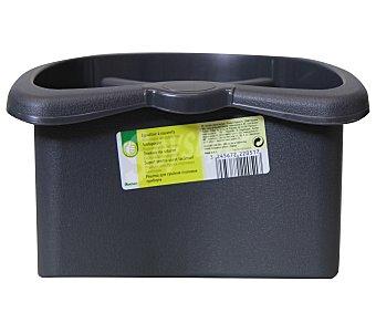 Productos Económicos Alcampo Escurrecubiertos de plástico color negro, drenaje en la base alcampo