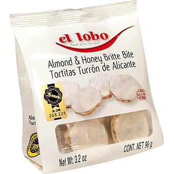El Lobo Tortitas de turrón de Alicante calidad suprema I.G.P Estuche 90 g
