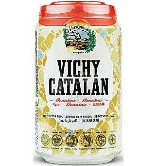 VICHY CATALAN Agua mineral natural con gas lata 33 cl