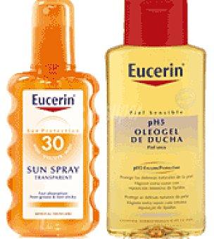 Eucerin Spray solar transparente Con FPS 30 + Regalo de Oleogel de ducha 200 ml. 200 ml