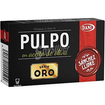 Sanchez Pulpo en aceite de oliva serie oro llibre Lata 68 g neto escurrido