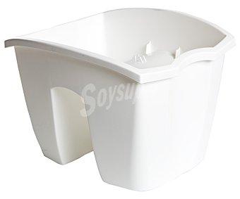VAN Balconera plástica cuadrada modelo Crown, lisa y en color blanco 1 Unidad