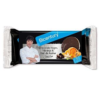 Bicentury Tortitas de arroz con chocolate negro, naranja y flor de azahar 132 g
