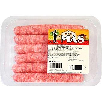 MAS Longaniza fresca con pimienta peso aproximado Bandeja 250 g