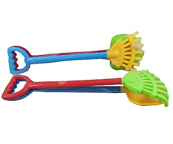 EURASPA Conjunto de juguetes de playa compuesto por una pala y un rastrillo 1 unidad