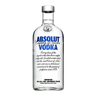Absolut Vodka Botella 70 cl