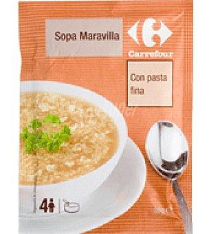 Carrefour Sopa Maravilla deshidratado con pasta fina 86 g