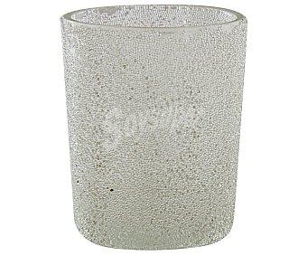 GÓTICA Vaso para velas cilíndricas con una bonita decoración de puntitos de color transparente 1 Unidad