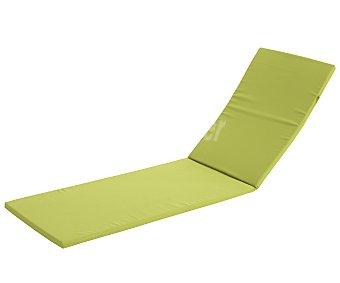 COMATEX Cojín para tumbona modelo Grey Line de color verde lima, de 192x58x3 centímetros, lavable y de gran resistencia al exterior 1 unidad