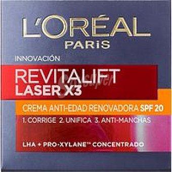 Revitalift L'Orèal Paris Crema facial de día SPF20 l`oreal Láser Tarro 50 ml