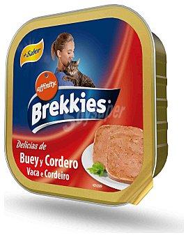 Brekkies Affinity Alimento para gatos de buey y cordero Tarrina de 100 g