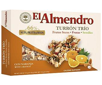 El Almendro Turrones barritas trío naranja,,  112gr