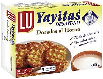 YAYITAS de LU Galletas Doradas al Horno 600g