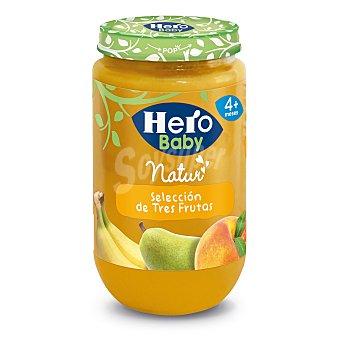 Hero Baby Tarrito tres frutas a partir 4 meses Tarro 250 g