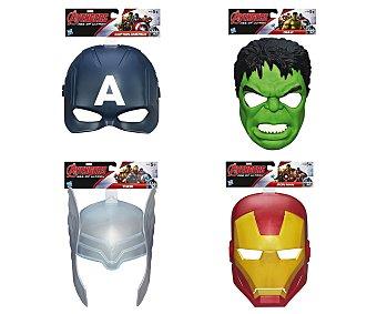Marvel Máscara hecha de plástico rígido de Avengers, Capitán América, Hulk, Thor o Iron Man, 1 unidad