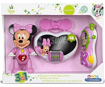 CLEMENTONI BABY Conjunto de tres juguetes Minnie, teléfono, bolso y muñeca 1 Unidad