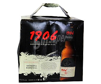 1906 Cerveza reserva especial botella 12 botellines de 33 cl