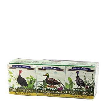 Jean de Veyrac Lote de patés de pato, ganso y aves 195 g