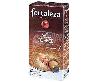 Fortaleza Café con aroma Toffee 10 cápsulas 10 ud