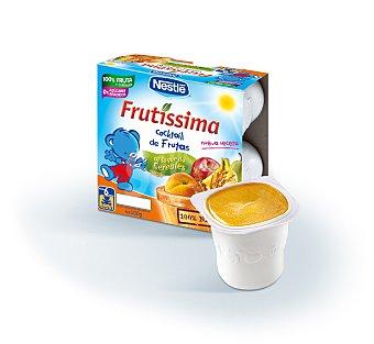Nestlé Frutissima Puré de cóctel de fruta al toque de cereales pack 4 x 100 g envase 400 g Pack 4 x 100 g