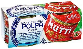 Mutti Pulpa de tomate 2 latas de 210 g