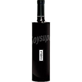 HABLA Vino tinto monovarietal syrah de Extremadura  Botella de 75 cl