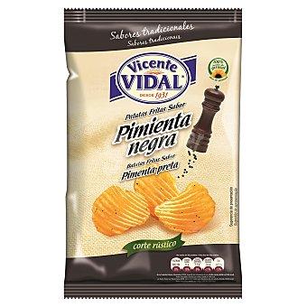 Vidal Patatas fritas onduladas sabor pimienta negra bolsa 135 gr Bolsa 135 gr