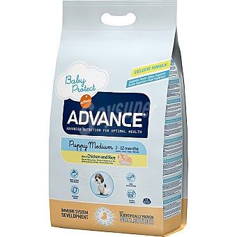 Advance Affinity Alimento de alta gama para cachorros de raza mediana rico en pollo y arroz Medium Puppy Bolsa 7,5 kg